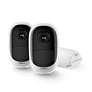 Reolink Outdoor Wireless Security Camera System Rechargeable Battery Solar Powered 1080p HD Night Vision, 2-Way Talk, Motion Alert Cloud Storage Work with Google Assistant | Argus Pro (Pack of 2)