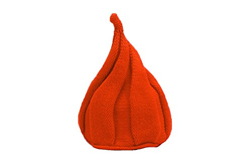 - FloYoung® Kids Cute Beanie Knitted Warm Windmills Cap Pointed Crochet Caps Orange