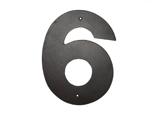 Montague Metal Products Helvetica Font Individual House Number, 6, (Black Letter Font Free)