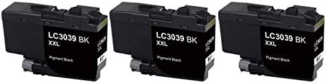 LC-3039BK/_3PK SuppliesMAX Compatible Replacement for Brother HL-6000//MFC-J5845//J5945//J6545//J6945DW Black Ultra High Yield Inkjet 3//PK-6000 Page Yield