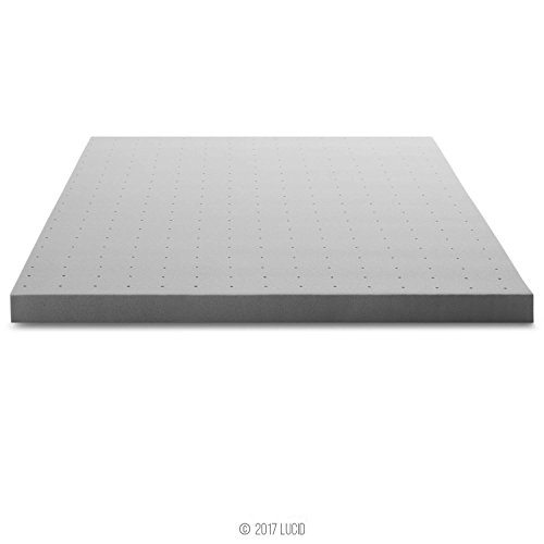 LUCID 3 Inch Bamboo Charcoal storeroom area Mattress Toppers
