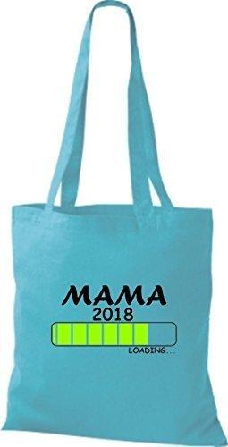 ShirtInStyle Bolso de mano Bolsa de algodón MAMA 2016 Carga Nacimiento Regalo - fucsia sky