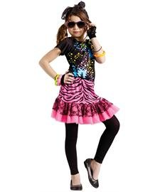 [80s Pop Party Kids Costume - Medium] (Music Stars Halloween Costumes)