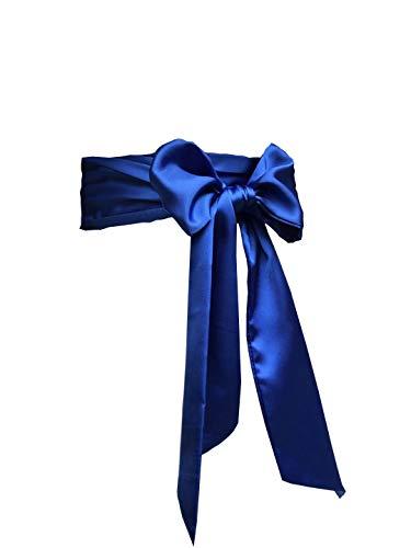 Eyrie Special Occasion Dress sash Bridal Belts Wedding sash 4'' Wide Double Side (Royal Blue)