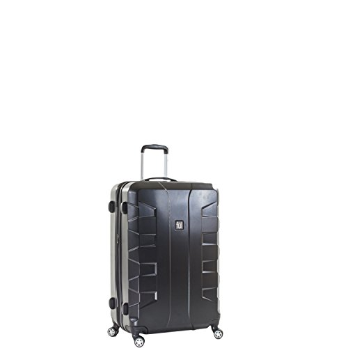ful Luggage Laguna 21in Spinner Rolling Luggage Suitcase, Upright Hard Case, Black