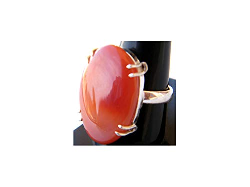 Thebestjewellery Botswana Agate Ring, Silver Plated Ring, Handmade Ring, Women Jewelry, Gemstone Ring (Size- 9.50 USA) BRS-4199