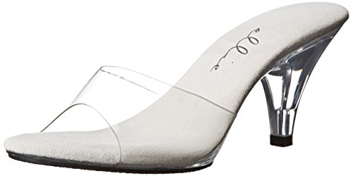 Ellie Shoes Women's 305-vanity, Clear, 11 M US