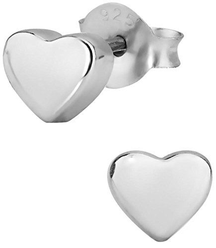 ing Silver Little Heart Stud Earrings for Kids (Nickel Free) (Sterling Silver Girl)