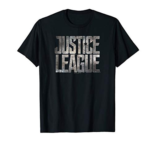 Justice League Movie Metal Logo T Shirt