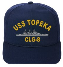 USS TOPEKA CLG-8 EMBROIDERED SHIP - Topeka Stores