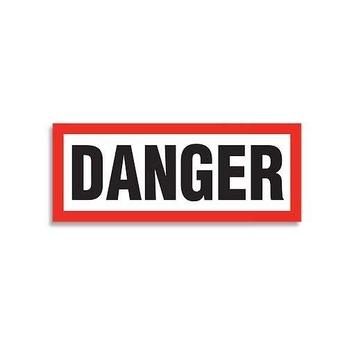 "GHS Safety GHS1275, 6.25"" x 15.75"" Danger Signal Word Sign, Pack of 20 pcs"