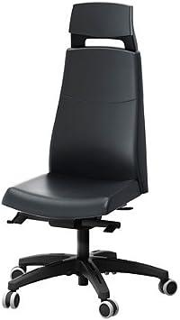 IKEA mjuk tête avec bureau appuie vOLMAR de chaise noir iOkZPXu