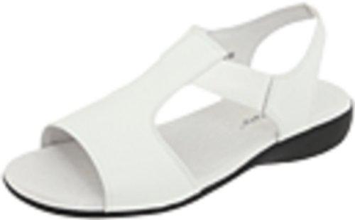 David Tate Womens Firenze Open Footwear Bianco Ciottolo / Pelle Fiore