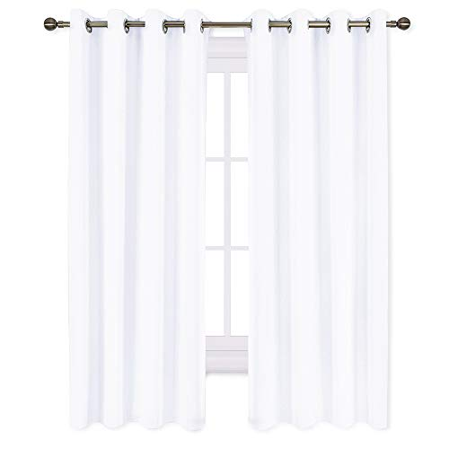 (NICETOWN 50% Blackout Curtains for Bedroom - (Pure White Color) 52