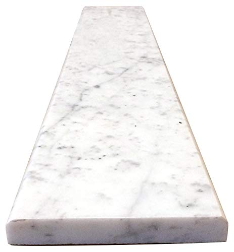 Vogue Tile White Carrara Marble Threshold (Marble Saddle) - Honed - (6