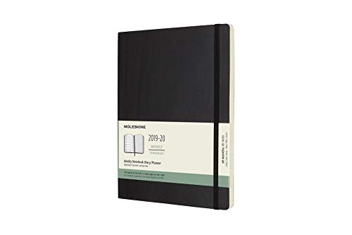 (Moleskine Classic 18 Month 2019-2020 Weekly Planner, Soft Cover, XL (7.5