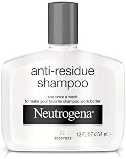 Neutrogena Anti-Residue Shampoo, Gentle Non-Irritating Clarifying Shampoo to Remove Hair Build-Up & Residue, 12 fl. oz