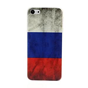 RC - Retro Russian Flag Pattern Plastic Hard Case for iPhone 5C