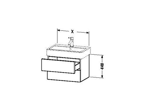 Duravit Waschtischunterschrank wandh. Delos 445x550x448mm 2 SchKa, für 045460, weiss hochglanz, DL63