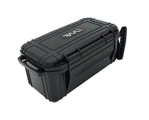 (RAAM Cigar Travel Humidor, Crush-proof Air tight Portable Humidifier For Cigars (Black, Single)