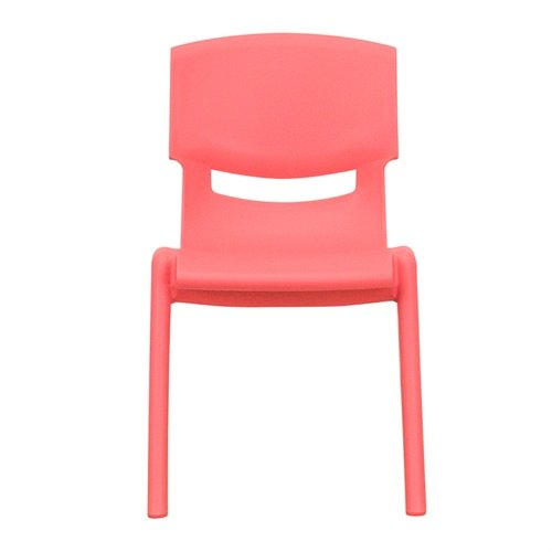 Flash Furniture Red Plastic Stackable School Chair with 12'' Seat Height