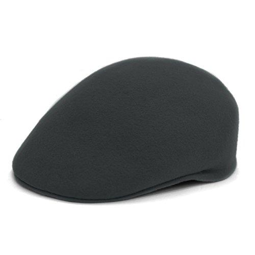 f32a9832 M – Ferrecci Men's Charcoal Wool English Hat. The Ferrecci Flat Cap English  Newsboy ...