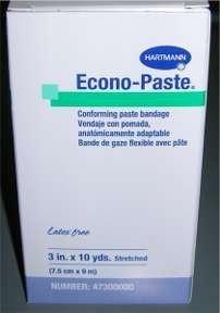 47300000 Bandage Econo-Paste Unna Boot LF 3'x10yd White 10 Per Case Part No. 47300000 by- Hartmann USA