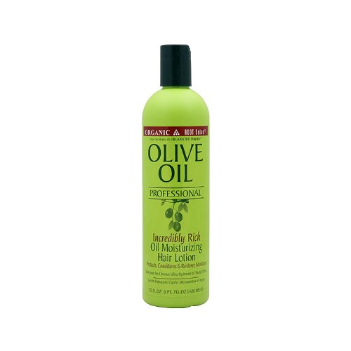 Olive Black Hair Oil Care - Organic Root Stimulator Olive Oil Incredibly Rich Oil Moisturizing Hair Lotion, 23 Ounce