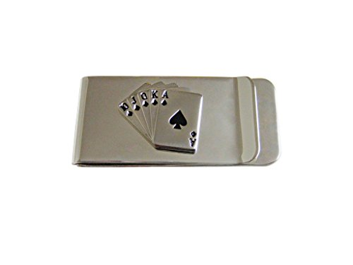 (Royal Flush Gambling Poker Money Clip)