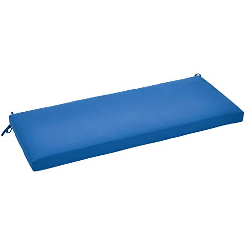 AmazonBasics Bench Patio Cushion - Poly Batting - Blue