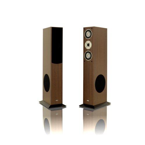 1 Paar Standlautsprecher Mohr SL15 Nussbaum Lautsprecherboxen, HiFi Klang zum günstigen Preis, elegante HiFi Standboxen aus Holz, als Stereolautsprecher oder Heimkinolautsprecher geeignet