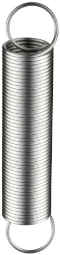 Extension Spring, 302 Stainless Steel, Inch, 0.5