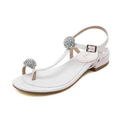 Confort oro de Sandalias 5 plana UK2 Primavera Casual EU34 de 4 2 US4 5 PU mujeres plata y CN33 Negra blanco w0w8q4tPr