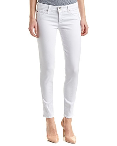 HUDSON Jeans Women's Collin Midrise Ankle Skinny Flap Pocket Jean, White, 25 -