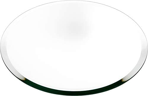 Plymor Round 5mm Beveled Glass Mirror, 12 inch x 12 inch Pack of 12