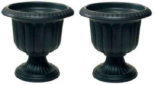 Classic Urn Planter - Large Black Urn