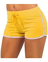 Women Running Short Athletic Shorts Elastic Waist
