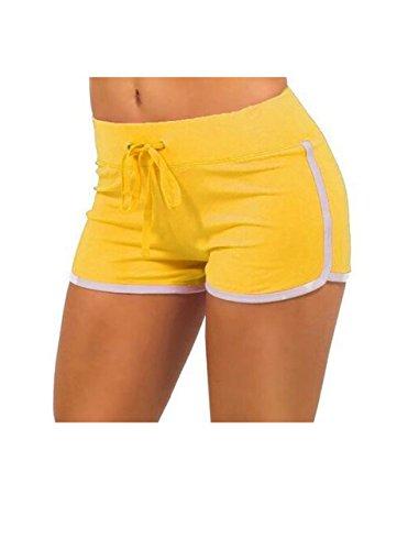 Yellow Athletic Shorts - 2