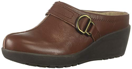 Easy Spirit Women's JIG Clog, Brown, 5 M US
