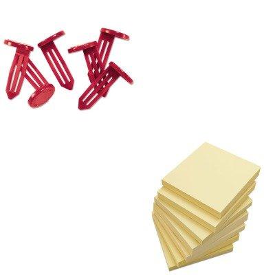 KITMMF261401807UNV35668 - Value Kit - MMF Nylon Vault Key-Hole Signals (MMF261401807) and Universal Standard Self-Stick Notes (UNV35668)