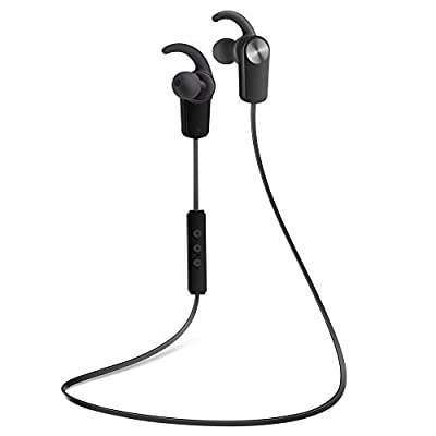 Photive PH-EB100 Sweat-Proof Wireless Bluetooth 4.0 Stereo Earbuds with Built in Microphone and In-line Controls.