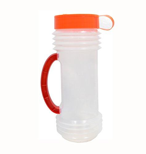 Cheap Shark Reusable and Adjustable Handheld Spreader Shaker for Seeds, Salt, Fertilizer, Diatomaceous Earth, Deicing, Ice Melt, Granule