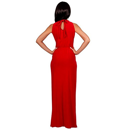 For Party Coper Dress Fashion Cocktail Bodycon Sexy Sleeveless Full Women's Women Red rUrzCwqH