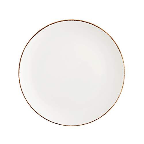 D&V Salt TechnoCeram Coupe Dinner Plate (Set of 4), 10.75