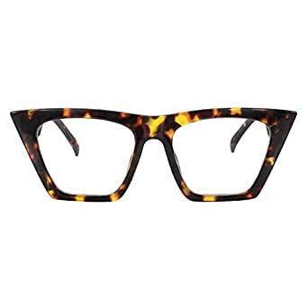 8dfea0c691ec Image Unavailable. Image not available for. Color: Zeelool Stylish Cat Eye  Glasses for Women Cecile ...