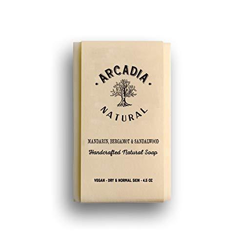 (Mandarin, Bergamot & Sandalwood) Natural Soap (Mandarin Moisturizing Cleanser)