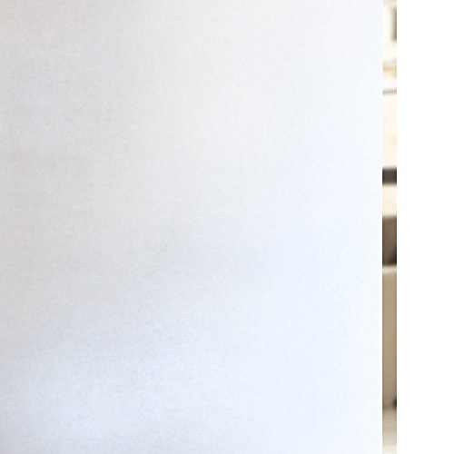 RABBITGOO Privacy Window Film Matte White Window Film Frosted Window Film Static Cling Glass Film Non Adhesive Window Film for Home Bathroom Office Meeting Room Living Room 35.4'' x 78.7'' by RABBITGOO