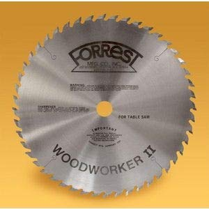 Forrest WW10407125 Woodworker II 10-Inch 40 Tooth ATB .125 Kerf Saw Blade with 5/8-Inch - Arbor Atb 0.625