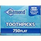 Diamond 41265 Flat Toothpicks 750 Count