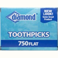 Diamond, Toothpicks Flat, 750 Count by Diamond